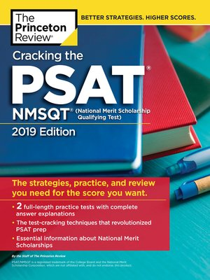cover image of Cracking the PSAT/NMSQT with 2 Practice Tests, 2019 Edition