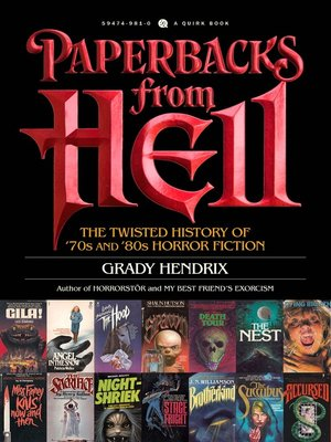 cover image of Paperbacks from Hell