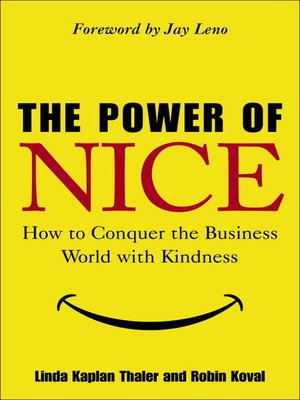 cover image of The Power of Nice