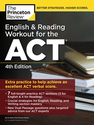 cover image of English and Reading Workout for the ACT