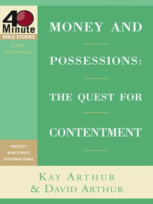 cover image of Money and Possessions