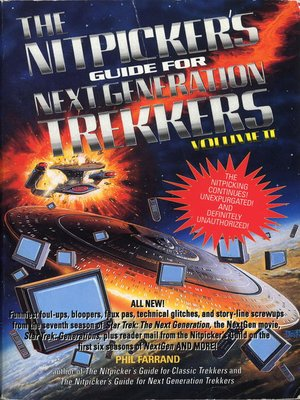 cover image of The Nitpicker's Guide for Next Generation Trekkers Volume 2