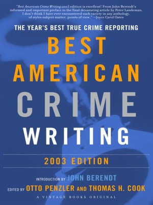 cover image of The Best American Crime Writing