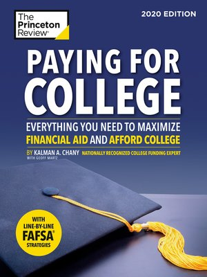 cover image of Paying for College, 2020 Edition