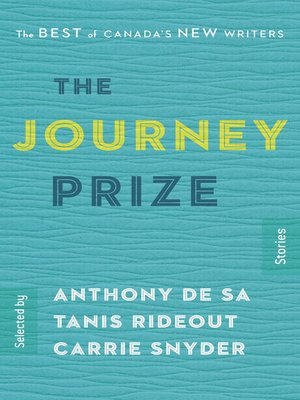 cover image of The Journey Prize Stories 27