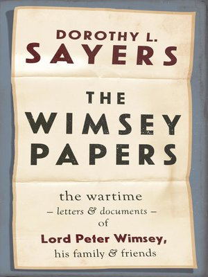cover image of The Wimsey Papers