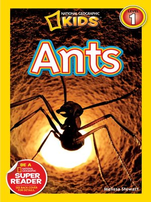 cover image of National Geographic Readers: Ants