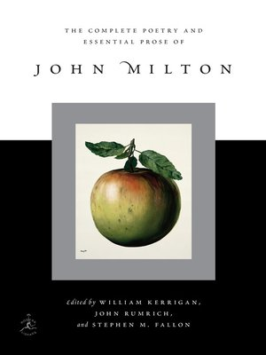 cover image of The Complete Poetry and Essential Prose of John Milton