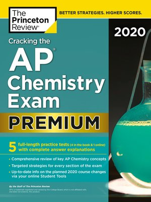 cover image of Cracking the AP Chemistry Exam 2020, Premium Edition