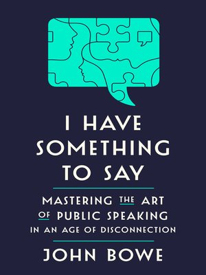 cover image of I Have Something to Say
