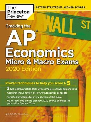 cover image of Cracking the AP Economics Micro & Macro Exams, 2020 Edition