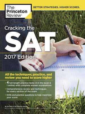 cover image of Cracking the SAT with 4 Practice Tests, 2017 Edition