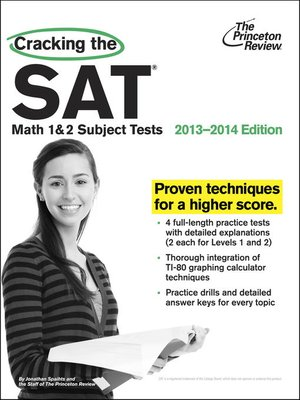 cover image of Cracking the SAT Math 1 & 2 Subject Tests, 2013-2014 Edition