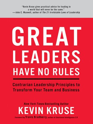cover image of Great Leaders Have No Rules
