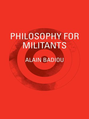 cover image of Philosophy for Militants