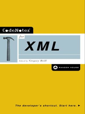 cover image of CodeNotes® for XML