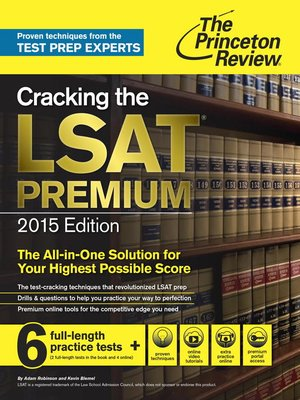 cover image of Cracking the LSAT Premium Edition with 6 Practice Tests, 2015