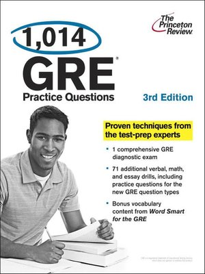 A good comprehensive foundation book, The Princeton Review's Cracking the GRE Premium Edition offers a general overview of the test and general lessons on strategy as well as individualized tips and strategies for each section of the test and a vocabulary list. The book was written by Princeton Review, a company that has been providing help and support to students through a variety of 5/5.