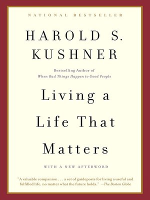 cover image of Living a Life that Matters