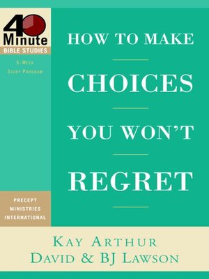 cover image of How to Make Choices You Won't Regret