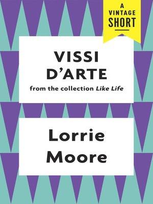 cover image of Vissi d'Arte