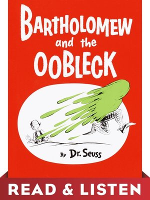 cover image of Bartholomew and the Oobleck