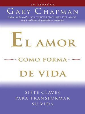 cover image of El amor como forma de vida