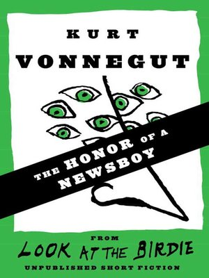 cover image of The Honor of a Newsboy (Stories)