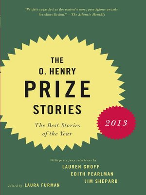 cover image of The O. Henry Prize Stories 2013