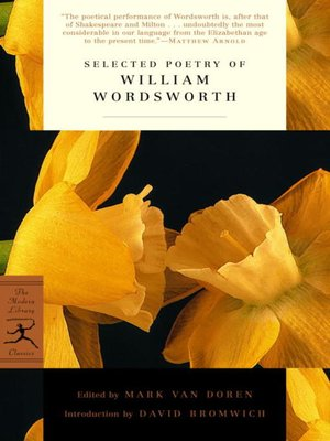 cover image of Selected Poetry of William Wordsworth