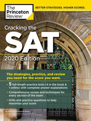 cover image of Cracking the SAT with 5 Practice Tests, 2020 Edition