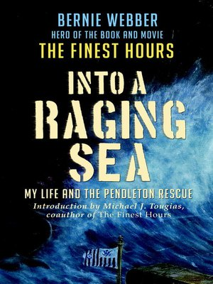 cover image of Into a Raging Sea