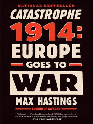 cover image of Catastrophe 1914