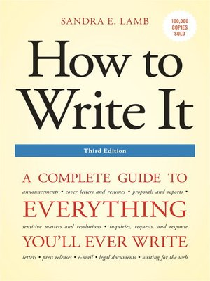 cover image of How to Write It