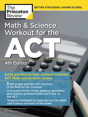 cover image of Math and Science Workout for the ACT