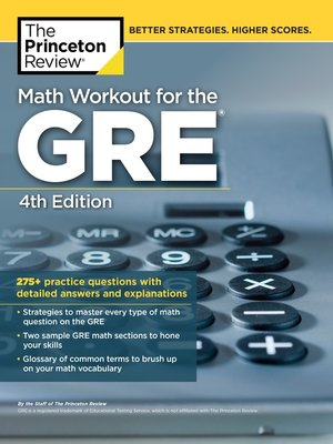 cover image of Math Workout for the GRE