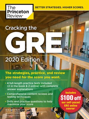 cover image of Cracking the GRE with 4 Practice Tests, 2020 Edition