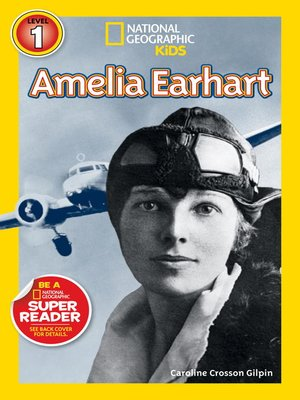 cover image of National Geographic Readers: Amelia Earhart