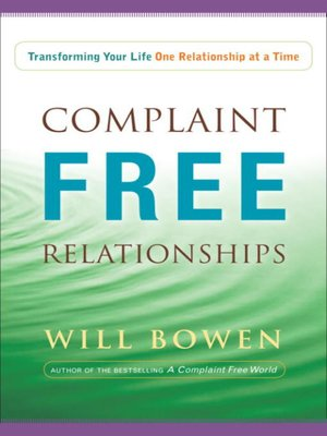 cover image of Complaint Free Relationships