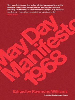 cover image of May Day Manifesto 1968