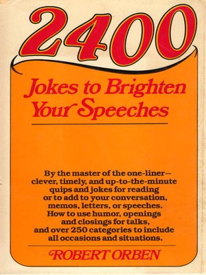 cover image of 2400 Jokes to Brighten Your Speeches