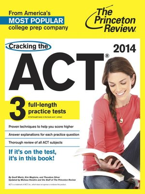 cover image of Cracking the ACT with 3 Practice Tests, 2014 Edition