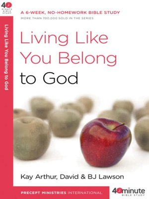 cover image of Living Like You Belong to God