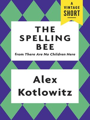 cover image of The Spelling Bee