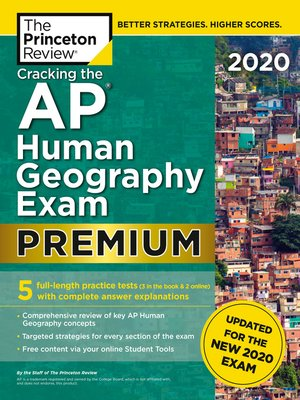 cover image of Cracking the AP Human Geography Exam 2020, Premium Edition