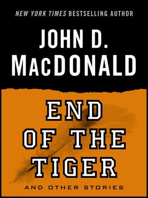 cover image of End of the Tiger and Other Stories