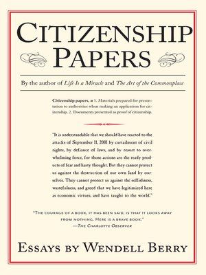 cover image of Citizenship Papers