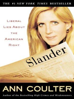 cover image of Slander