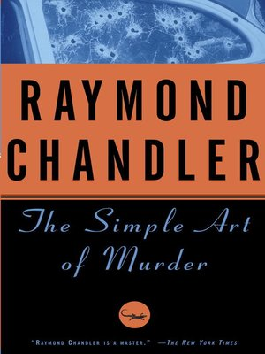 cover image of The Simple Art of Murder