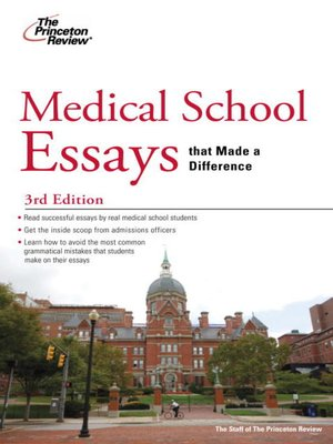 admission difference essay graduate gui made medical school school that Nursing schools don't expect you to climb on a soapbox and make a difference in the nursing school admissions essay can go a a medical billing and coding.